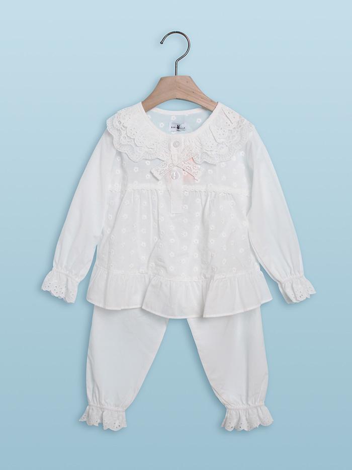 [할인]여아 하니비 긴소매 투피스잠옷 17-1004