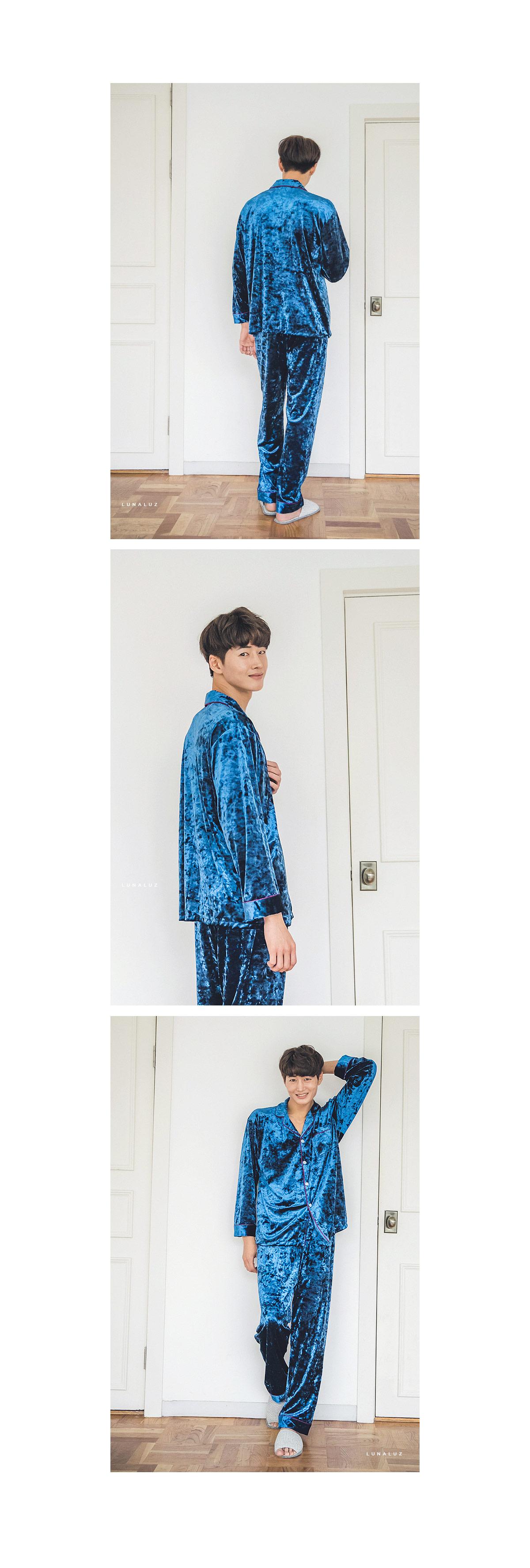 블링블링 벨벳 2컬러 남성잠옷 BNBR-M065 - 쿠비카, 93,000원, 잠옷, 남성파자마