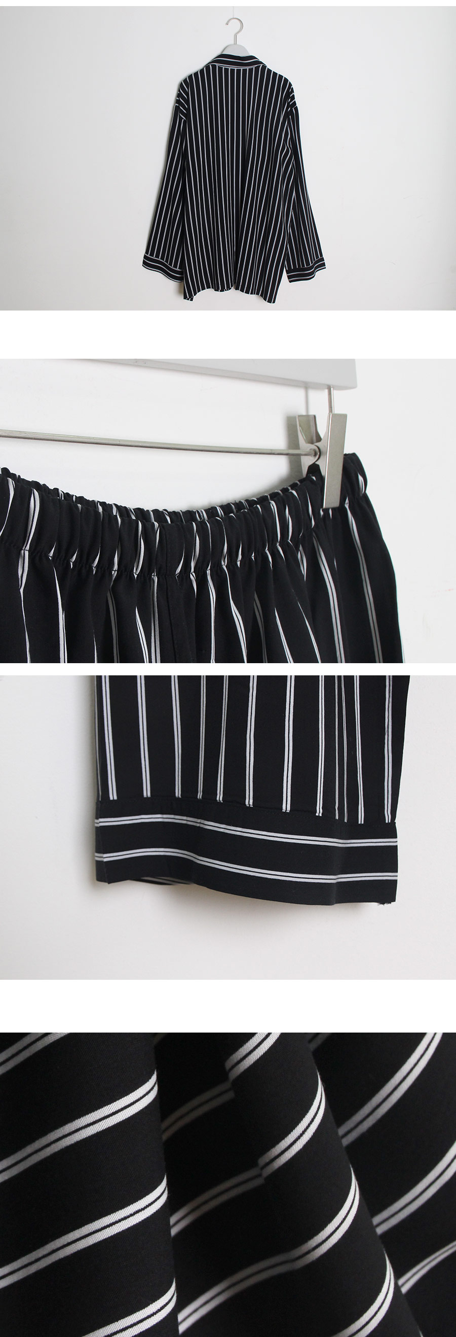 맥시 스트라이프 투피스 커플잠옷 WM119 - 쿠비카, 135,000원, 잠옷, 커플파자마