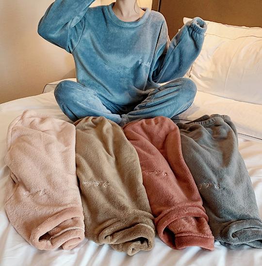 ST63 딜라이트 밍크 세트 수면잠옷