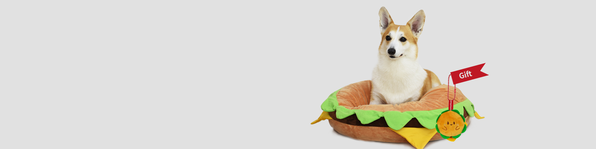 햄버거강아지방석