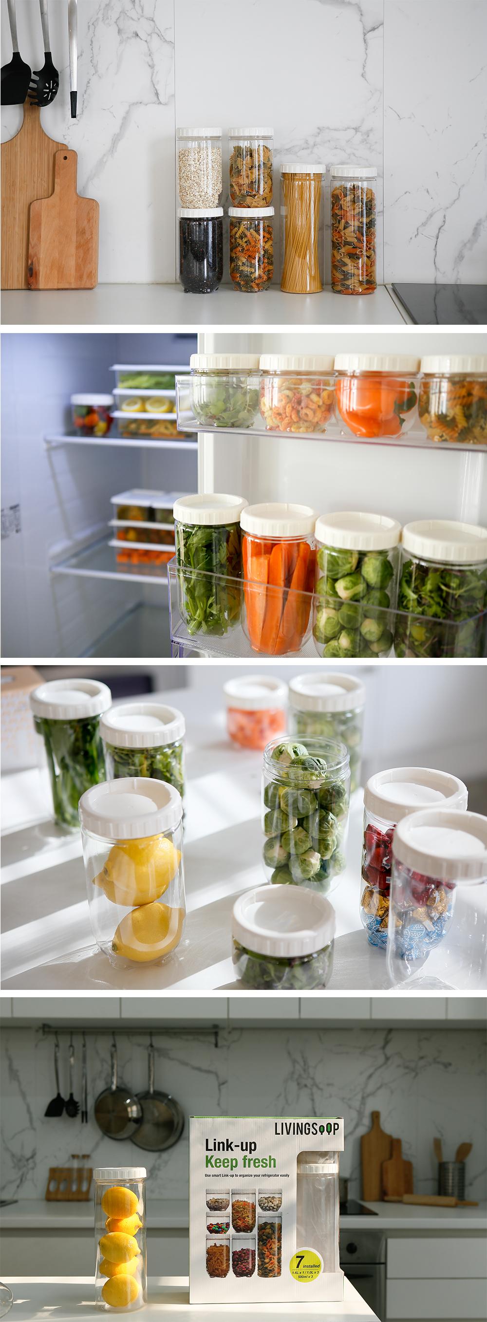 단품 냉장고 보관 용기 원형set 7P - 리빙숲, 19,900원, 밀폐/보관용기, 반찬/밀폐용기