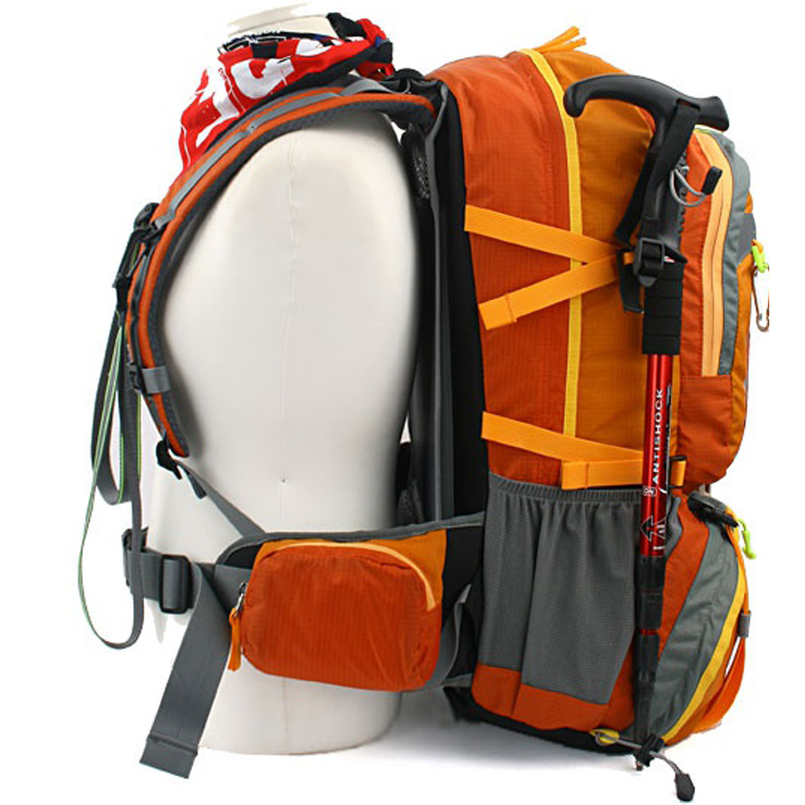 Camping Hiking Backpacking: 40L Backpacking Backpack Bag Rucksack Travel Hiking