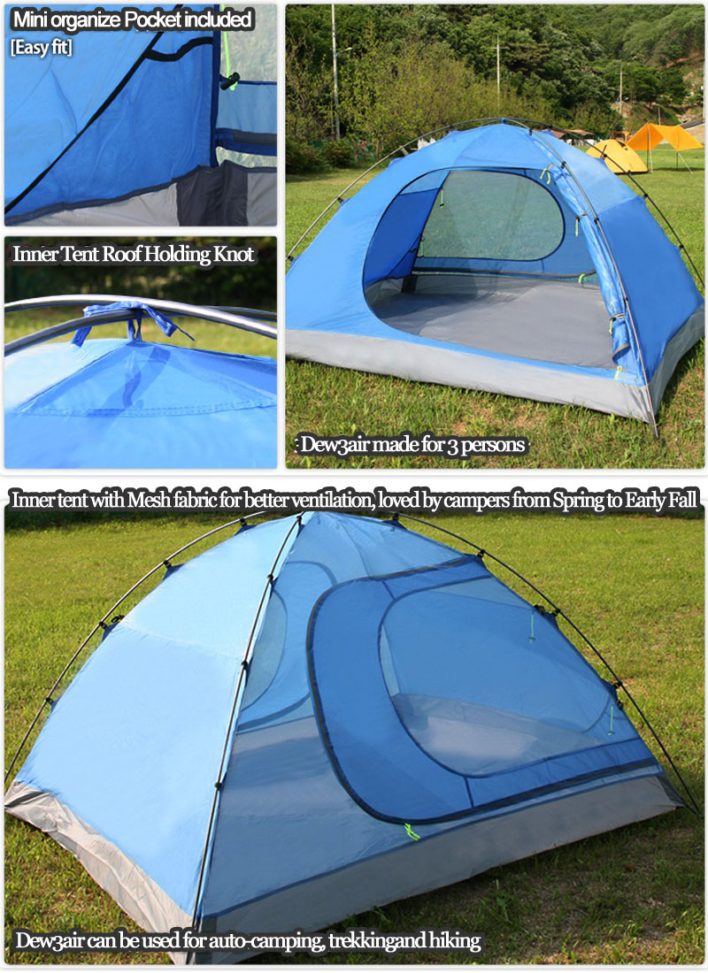 Hillman tent 3 person dew3 backpacking camping outdoor for Outdoor fishing