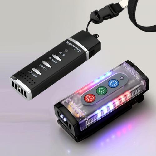전자호루라기 세이프메이트4 (205M)+세이프메이트3(204P)안전 경고등 휘슬 LED 경광등 경찰개인장구  LED견장 호신 어깨경광등 개인안전표시등  안전용품  마이크로 멀티핀 충전식