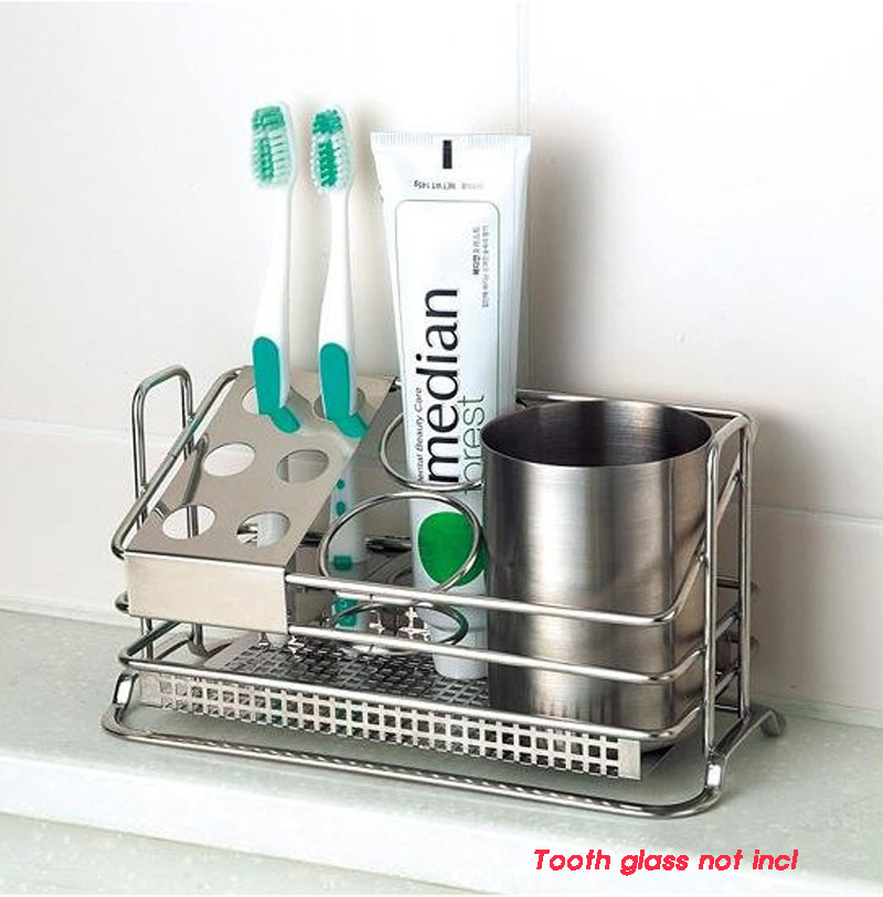 Details about toothbrush holder stands toothpaste storage bathroom