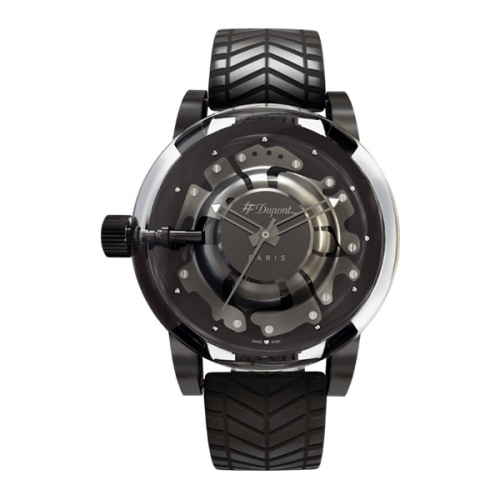 [ST듀퐁] 하이퍼돔 시계 블랙다이얼,러버 CE65110ZZ 이미지
