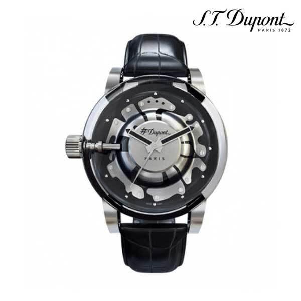 [ST듀퐁] 19 하이퍼돔 시계 엠보싱크로커 BK CE65119WZ 이미지
