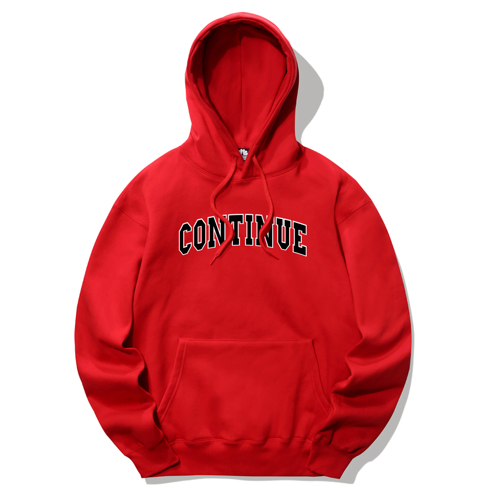 CONTINUE LOGO HOODIE - RED