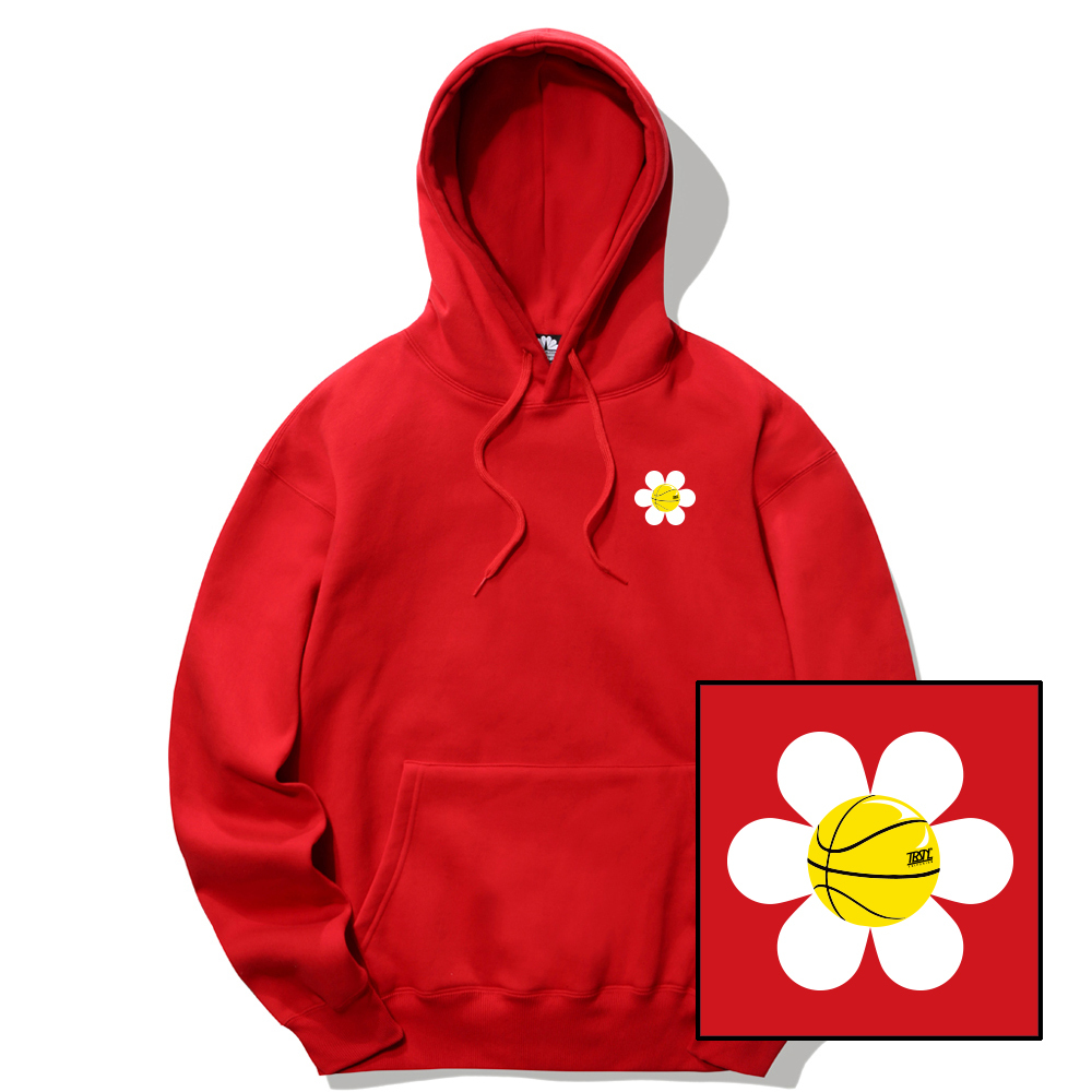 SMALL DAISY LOGO HOODIE - RED