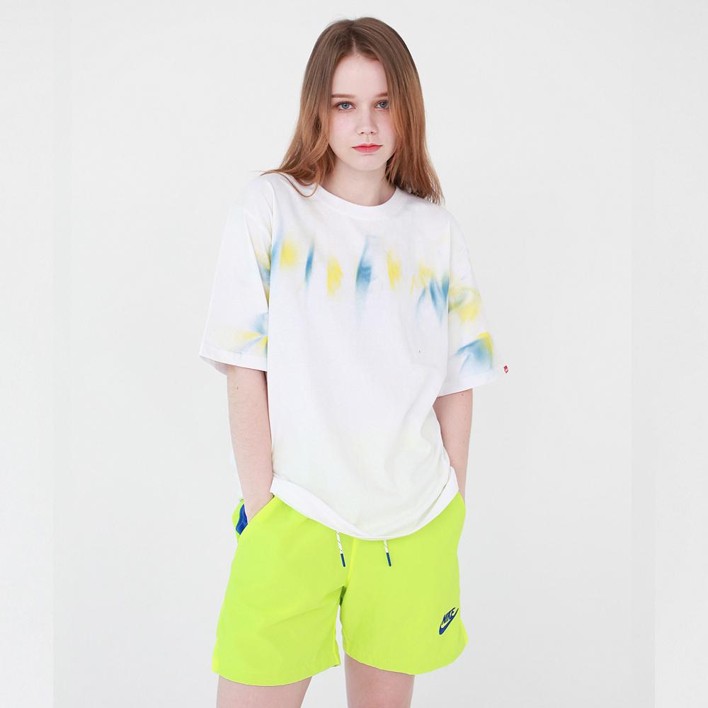 ROUGH LOGO 핸드 페인팅 티셔츠 - 화이트