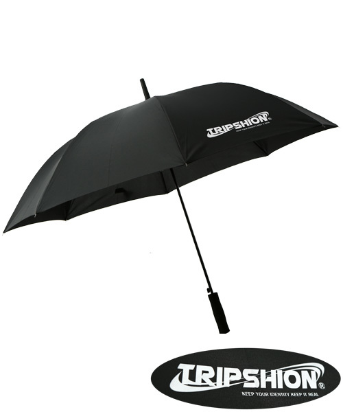 [TRIPSHION] 프리즘 로고 장우산 - 블랙