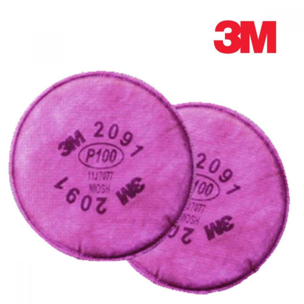 3M 방독마스크 방진필터 2091 1봉 2개입 [제작 대량 도매 로고 인쇄 레이저 마킹 각인 나염 실크 uv 포장 공장 문의는 네이뽕]