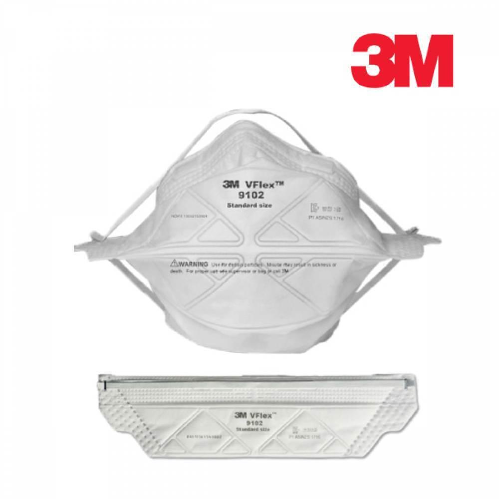 3M 접이식 방진마스크 9102 [제작 대량 도매 로고 인쇄 레이저 마킹 각인 나염 실크 uv 포장 공장 문의는 네이뽕]