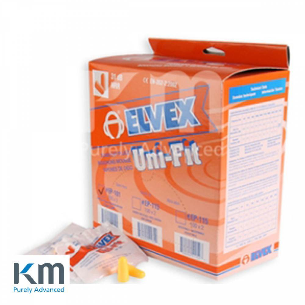 ELVEX 청력보호구 귀마개 Ear Plug 200쌍입 [제작 대량 도매 로고 인쇄 레이저 마킹 각인 나염 실크 uv 포장 공장 문의는 네이뽕]