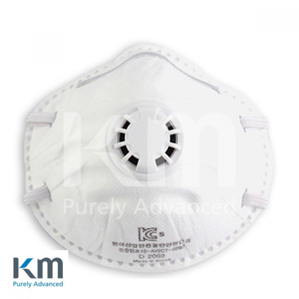 KM 방진마스크 2급 밸브형 1각 20개입 D-2002 [제작 대량 도매 로고 인쇄 레이저 마킹 각인 나염 실크 uv 포장 공장 문의는 네이뽕]