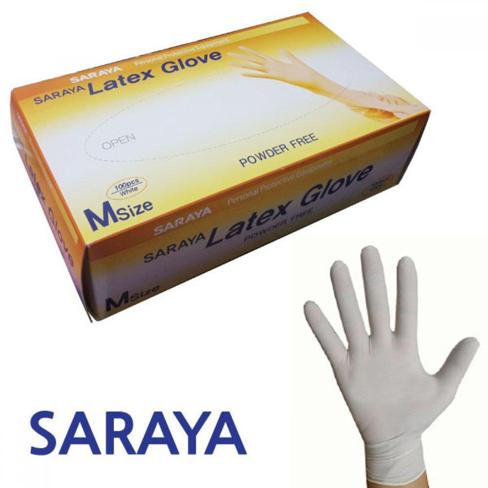 SARAYA 라텍스 장갑 1각 50켤레입 [제작 대량 도매 로고 인쇄 레이저 마킹 각인 나염 실크 uv 포장 공장 문의는 네이뽕]