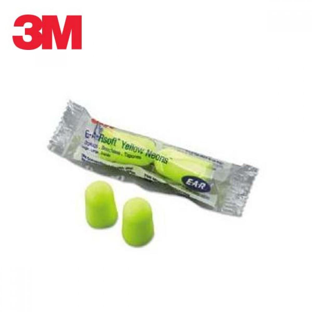 3M 폼 타입 귀마개 EAR Soft 엘로우네온 10세트 묶음 [제작 대량 도매 로고 인쇄 레이저 마킹 각인 나염 실크 uv 포장 공장 문의는 네이뽕]