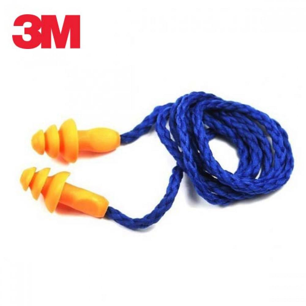3M 끈이 달린 재사용 가능 귀마개 1270 5개 묶음 [제작 대량 도매 로고 인쇄 레이저 마킹 각인 나염 실크 uv 포장 공장 문의는 네이뽕]