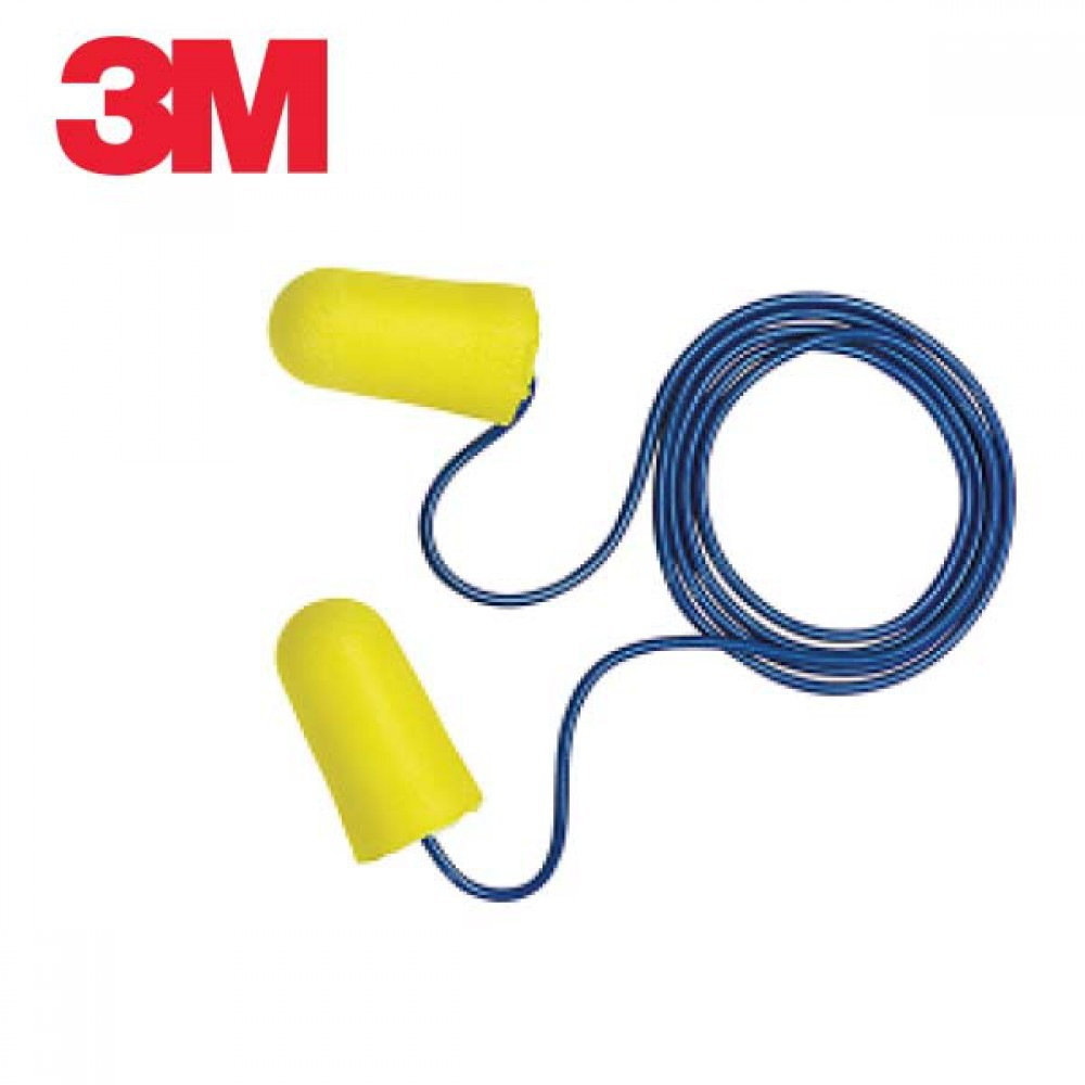 3M 폼 타입 귀마개 TaperFit 2 끈이달린 10개 묶음 [제작 대량 도매 로고 인쇄 레이저 마킹 각인 나염 실크 uv 포장 공장 문의는 네이뽕]
