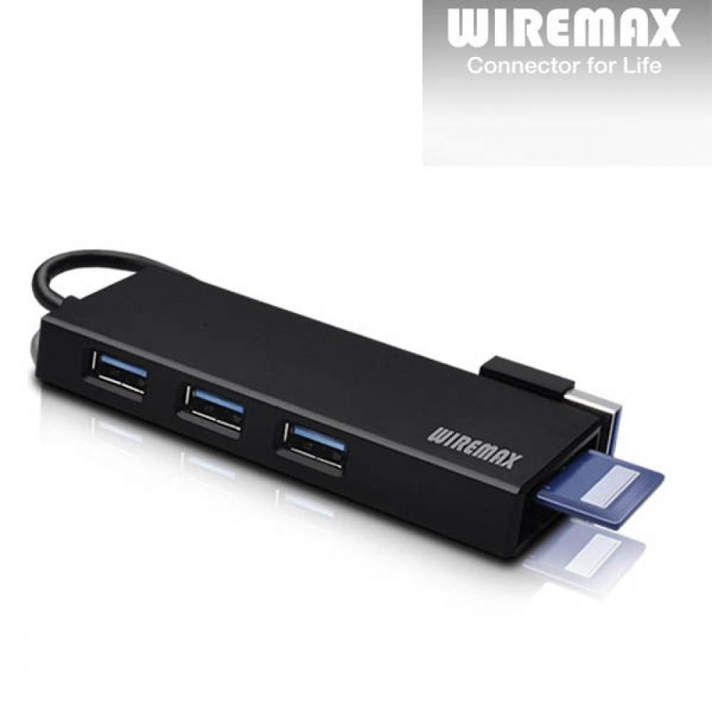 USB 3.0 3포트 허브 겸용 카드리더기 US3C [제작 대량 도매 로고 인쇄 레이저 마킹 각인 나염 실크 uv 포장 공장 문의는 네이뽕]