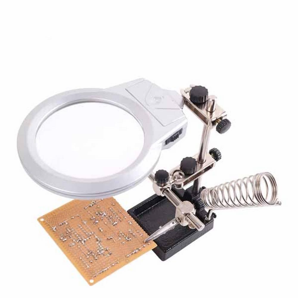 휴대용 공구 납땜 보조 작업 인두거치 확대경 [제작 대량 도매 로고 인쇄 레이저 마킹 각인 나염 실크 uv 포장 공장 문의는 네이뽕]