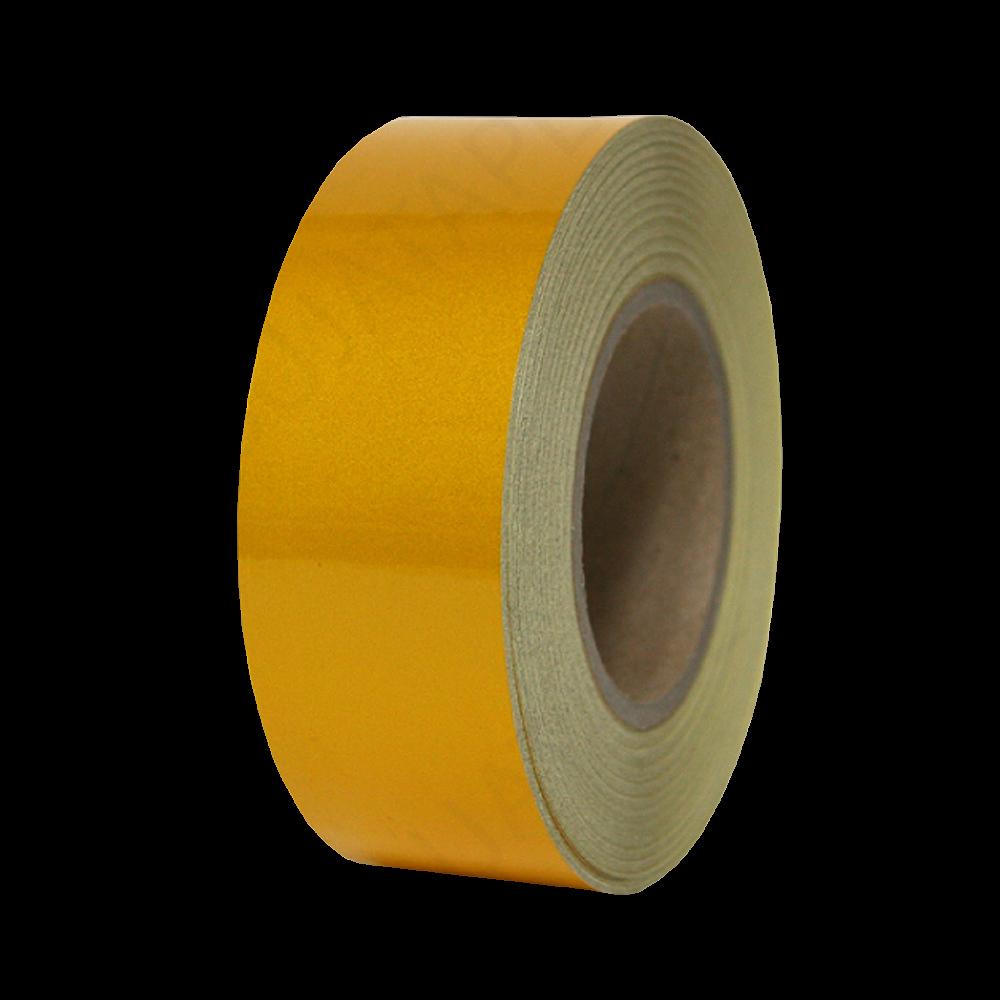 안전 반사 테이프 50mm x 45M 황색 [제작 대량 도매 로고 인쇄 레이저 마킹 각인 나염 실크 uv 포장 공장 문의는 네이뽕]
