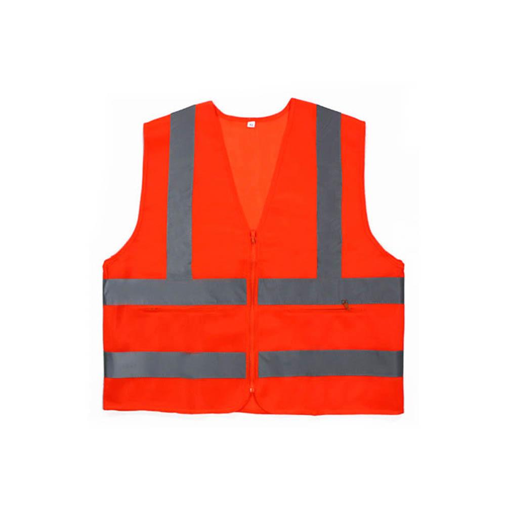 신호수조끼 MR-303-5 안전조끼 천 오렌지 회색띠 XL [제작 대량 도매 로고 인쇄 레이저 마킹 각인 나염 실크 uv 포장 공장 문의는 네이뽕]
