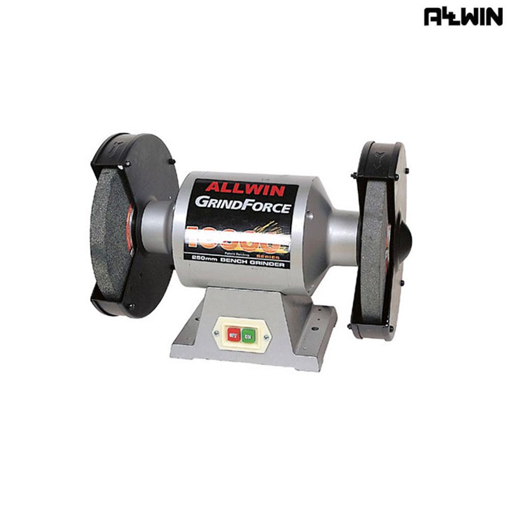 올윈 전동 탁상 그라인더 AGF-10000 250mm [제작 대량 도매 로고 인쇄 레이저 마킹 각인 나염 실크 uv 포장 공장 문의는 네이뽕]