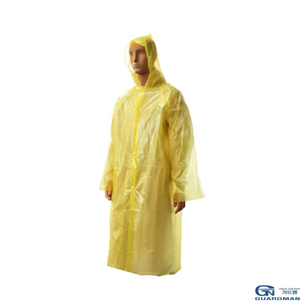 가드맨 일회용 우의 어른용 노란색 2EA