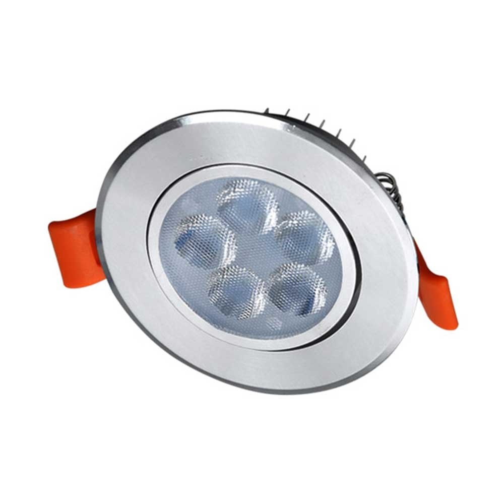 75mm LED 원형일체형 5W 실버 주광색 전구색 [제작 대량 도매 로고 인쇄 레이저 마킹 각인 나염 실크 uv 포장 공장 문의는 네이뽕]