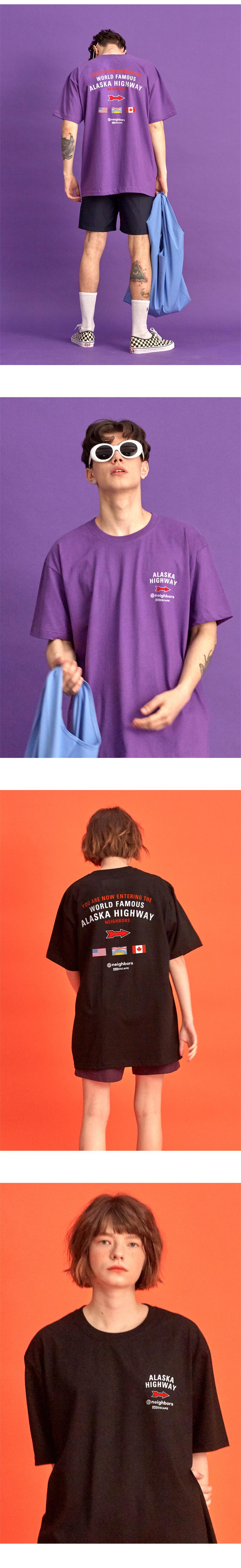 NBS304 알래스카 하이웨이 반팔 티셔츠 - 3컬러
