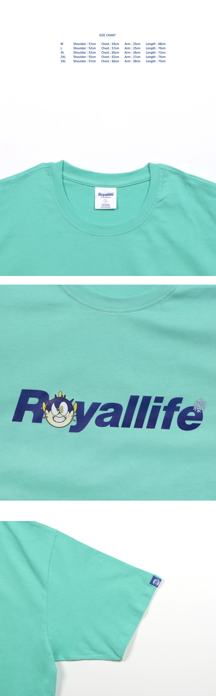로얄라이프(ROYALLIFE) RL470 아이스퍼프 반팔 티셔츠 - 화이트