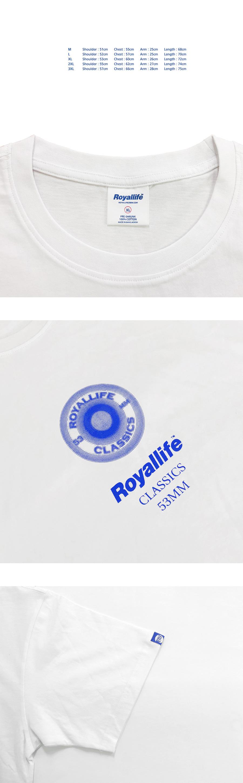 로얄라이프(ROYALLIFE) RL446  클래식 휠  반팔 티셔츠 - 블랙
