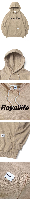 로얄라이프(ROYALLIFE) RLPH500 오리지널 로고 후드티 - 바닐라