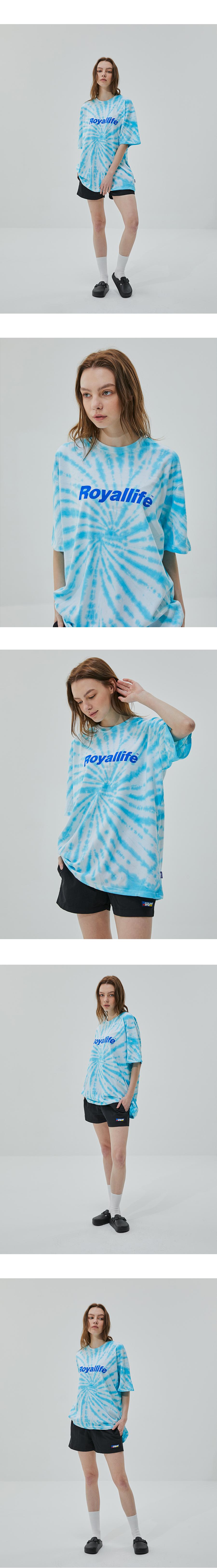 로얄라이프(ROYALLIFE) RL619 타이다이 반팔 - 블루