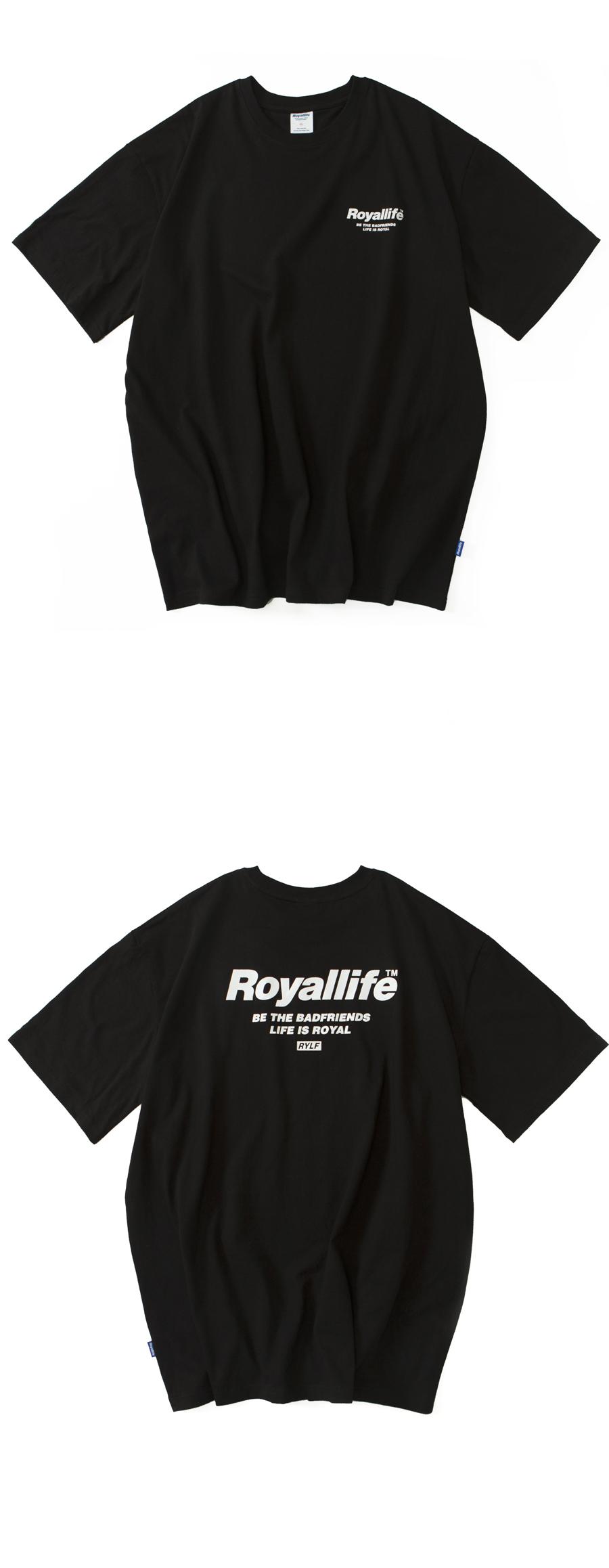 로얄라이프(ROYALLIFE) RL701 비 더 프렌즈 반팔 - 블랙