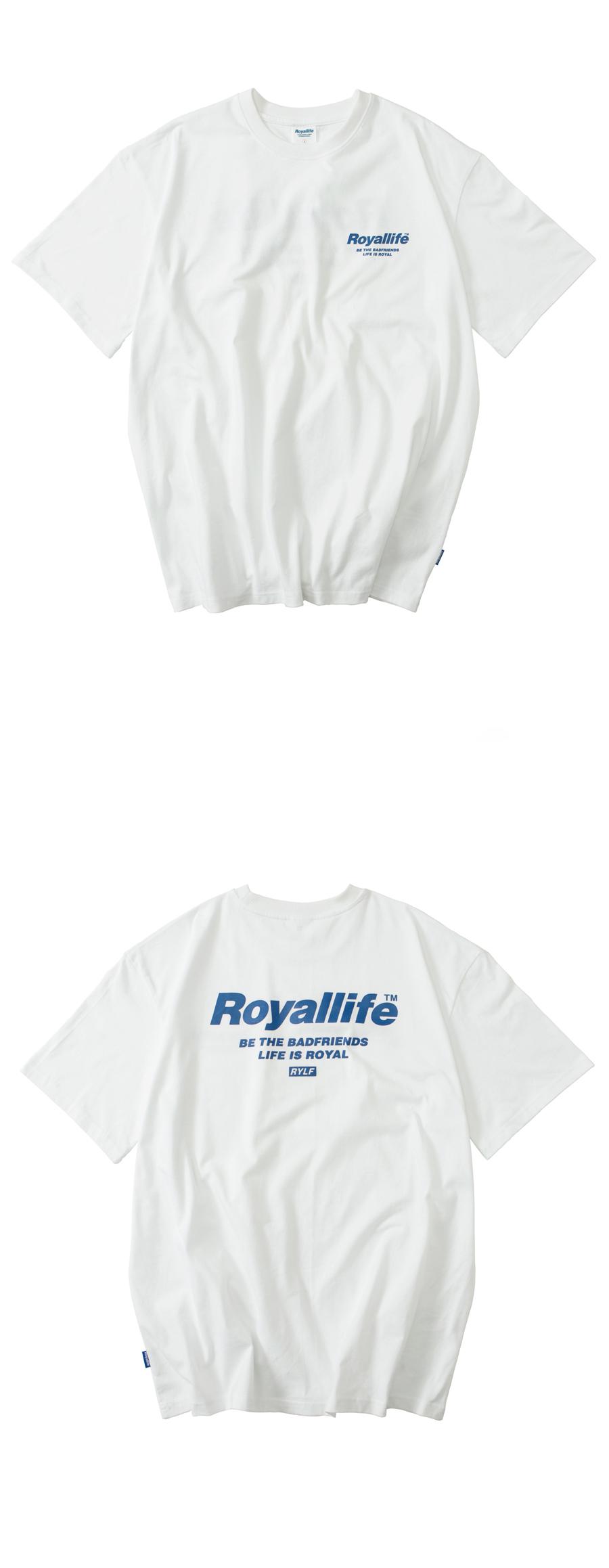 로얄라이프(ROYALLIFE) RL701 비 더 프렌즈 반팔 - 화이트