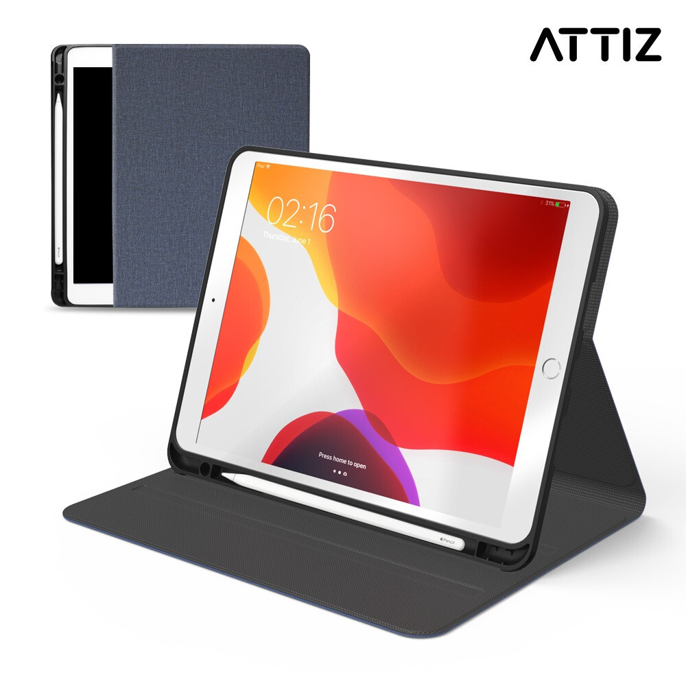 [ATTIZ] Slim book iPad 10.2 (7세대) 블루