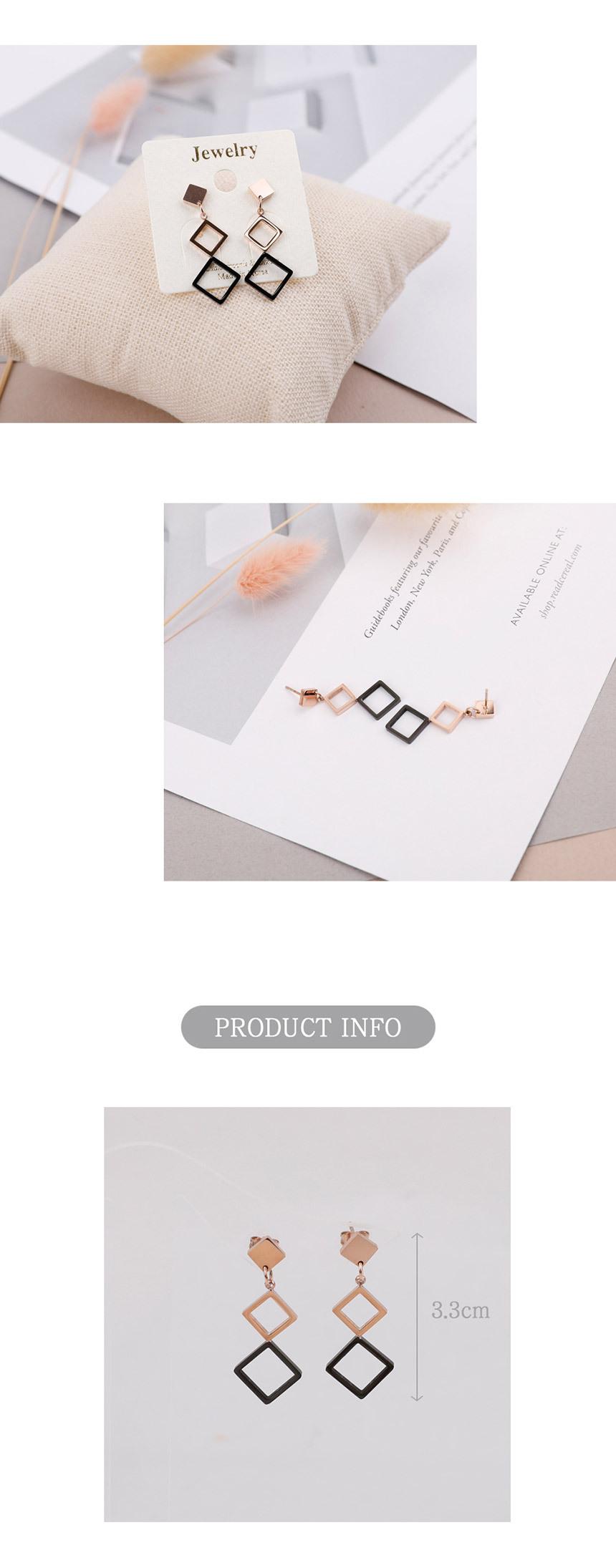 오닉스 미니마름모 써지컬 스틸 귀걸이 - 링코, 9,900원, 실버, 드롭귀걸이