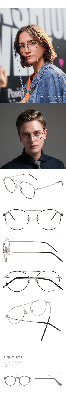 GARCON RTGA727SB (실버) 청광차단 남녀공용안경테 - 리에티, 59,000원, 안경/선글라스, 안경