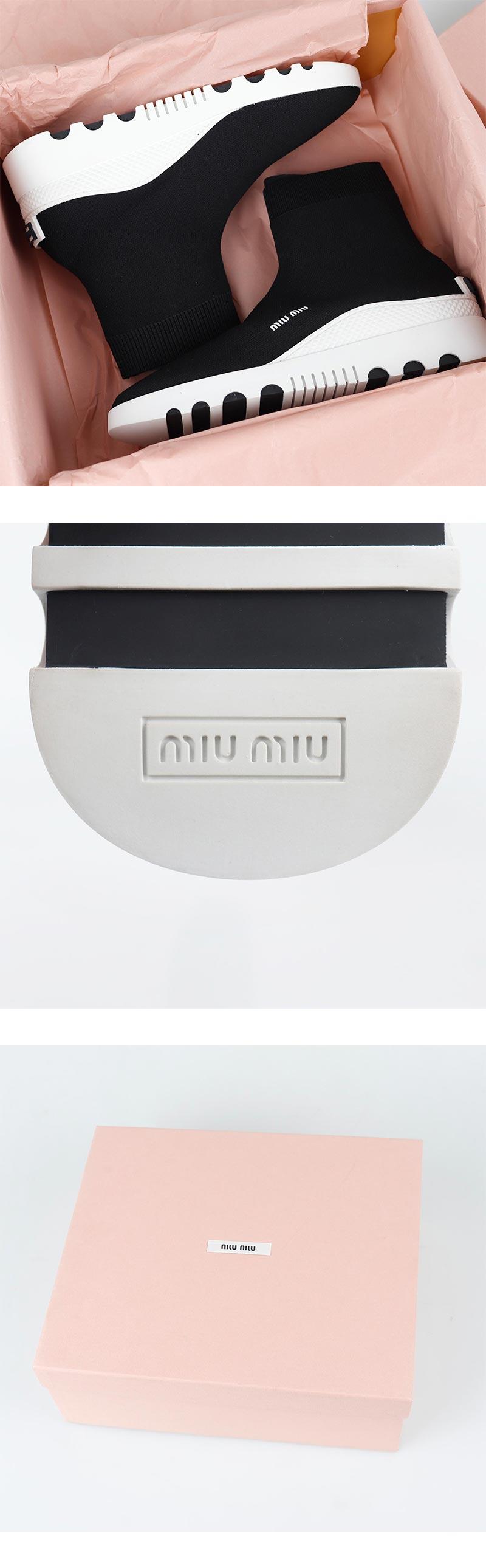 미우미우(MIU MIU) 삭스 러너 스니커  5T150C MAGLIA TECH