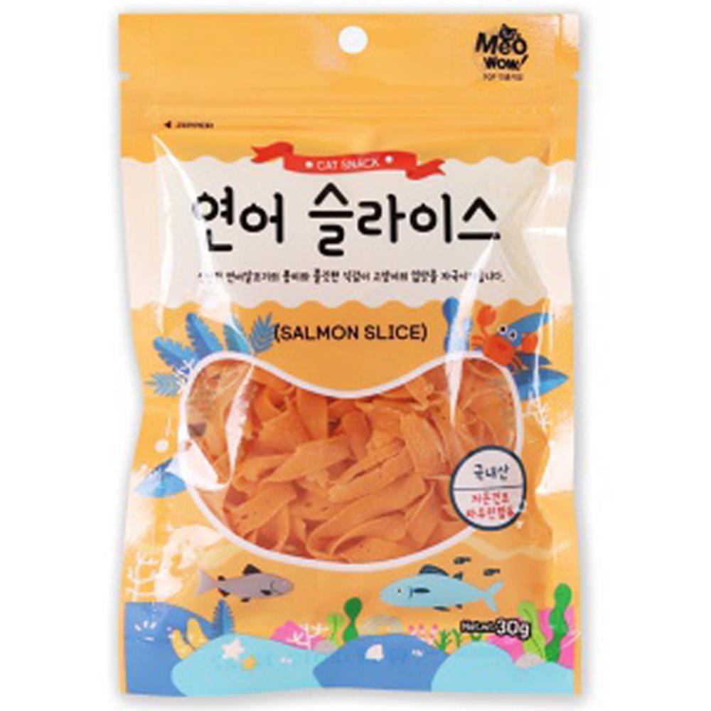 미우와우 연어슬라이스 고양이 영양 간식