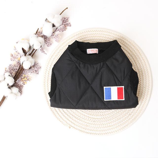 중형견옷 대형견패딩 프랑스 패딩 누빔 조끼