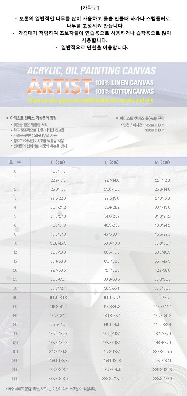 피닉스 아티스트 캔버스 F형(인물형) 5호F(34.8*27.3) - 우리아트, 3,000원, 화방지류, 유화/아크릴스케치북
