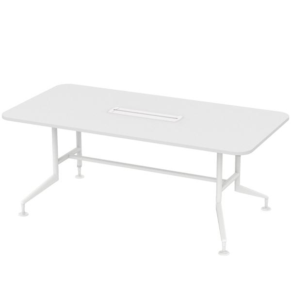[심플즈] 컨포인 테이블 화이트 프레임 (NO.104)