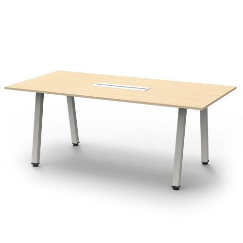 [심플즈] VIP 화이트 프레임 말굽 회의용 테이블 (NO.38)