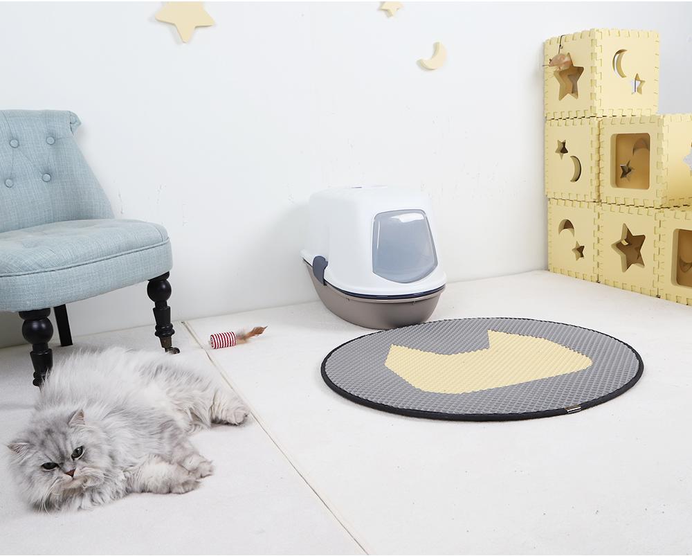 스타캣 라운드 고양이 모래매트 고양이모양-연회색25,900원-스타캣펫샵, 고양이용품, 화장실/위생용품, 화장실 매트바보사랑스타캣 라운드 고양이 모래매트 고양이모양-연회색25,900원-스타캣펫샵, 고양이용품, 화장실/위생용품, 화장실 매트바보사랑