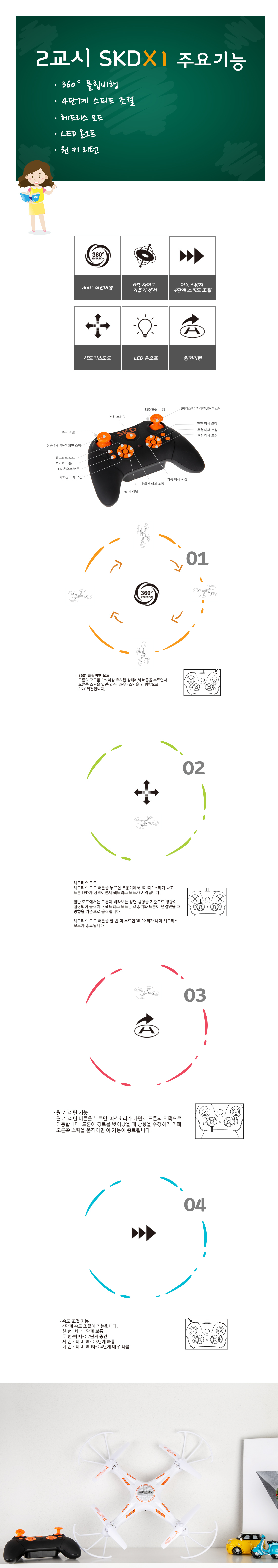 Flytec SKDX1 입문용 조립 DIY드론 무 납땜 - 월드스카이, 59,000원, R/C 드론/쿼드콥터, 드론