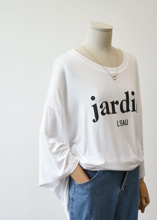쟈딘 실키 오버핏 롱티셔츠